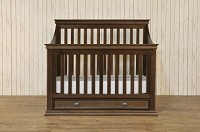 Franklin & Ben Mason 4-in-1 Convertible Crib with Toddler Rail in Rustic Brown