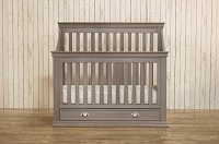 Franklin & Ben Mason 4-in-1 Convertible Crib with Toddler Rail in Weathered Grey