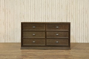 Franklin & Ben Mason Double Wide Dresser in Rustic Brown