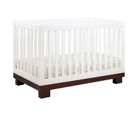 Babyletto Modo 3 in 1 Convertible Crib with Toddler Rail, White and Espresso