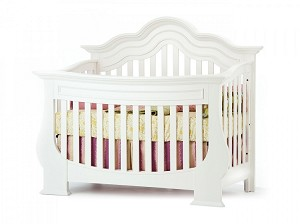 Munire Capri Lifetime Curved Top Convertible Crib in White