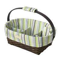 Munchkin SaraBear® Diaper Caddy, Green Stripes