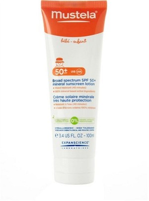Mustela� Broad Spectrum SPF 50 Mineral Sunscreen Lorion 3.4 oz