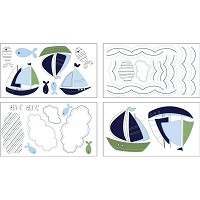 Crown Crafts Zachary Wall Decals by Nautica Kids