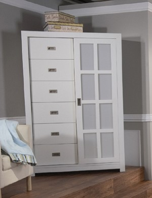 Pali Novara Armoire in White
