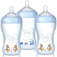 Nuby 3Pk Bottle 10oz Med. Flow