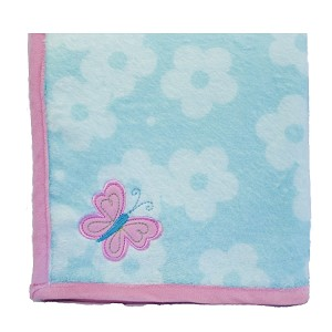 Nurture Imagination Wings Plush Blanket with Applique