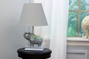 Nurture Imagination Elephant Jubilee Lamp Base and Shade