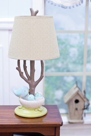 Nurture Imagination Nest Lamp Base & Shade