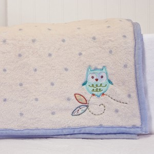 Nurture Imagination Nest Print Minky Plush Back Blanket