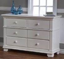 Pali Torino Double Drawer Dresser in White