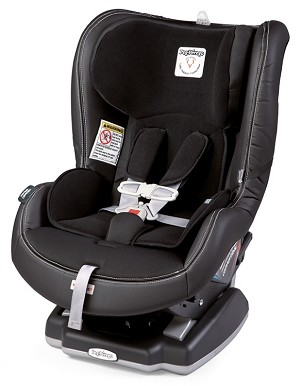 Peg Perego Primo Viaggio Convertible Carseat in Licorice - Black Eco Leather