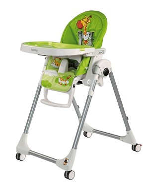 Peg Perego Prima Pappa Zero 3 High Chair in Giraffa Verde