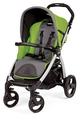 Peg Perego Book Classico Stroller in Mentha - Apple Green/Grey