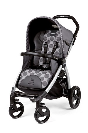 Peg Perego Book Classico Stroller in Pois Grey - Light Grey/Charcoal Grey Dots