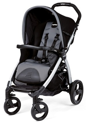 Peg Perego Book Classico Stroller in Stone - Black/Grey