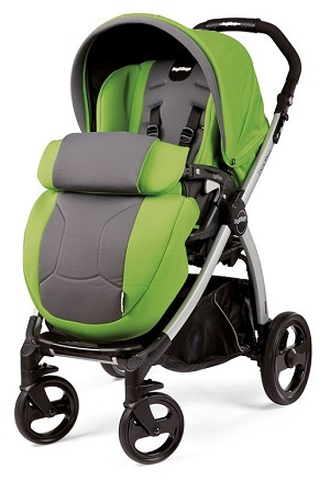 Peg Perego Book Plus Stroller in Mentha - Apple Green/Grey