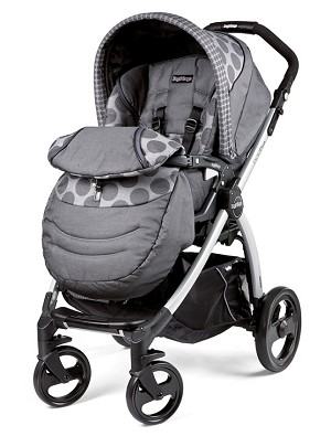 Peg Perego Book Plus Stroller in Pois Grey - Light Grey/Charcoal Grey Dots