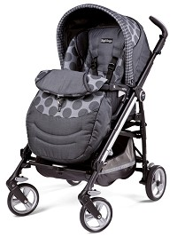 Peg Perego Switch Four in Pois Grey - Light Grey/Charcoal Grey Dots