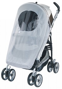 Peg Perego Mosquito Netting for Pliko p3-A3 in Grey (Elastic)
