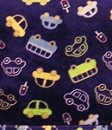 Beansprout Micro Polar Fleece Blanket Blue Stop Light Cars