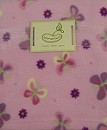 Beansprout Micro Polar Fleece Blanket Butterfly Dot Pink