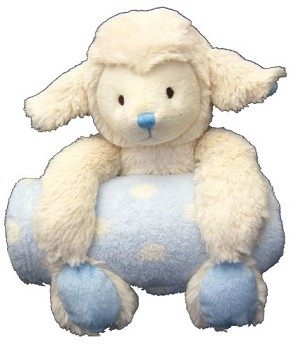 Step by Step Plush Animal With Blanket Blue Lamb