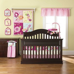 Too Good by Jenny McCarthy Floral Flutter 8 Piece Crib Bedding