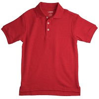 French Toast Interlock Polo, Red