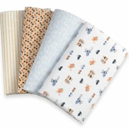 Kids Line Receiving Blanket Lions 4 PK