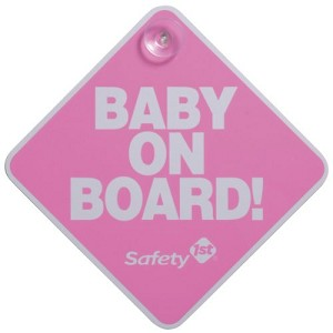Safety 1st� Baby On Board Sign, Pink