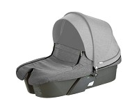 Stokke® Xplory® Carry Cot, Black Melange