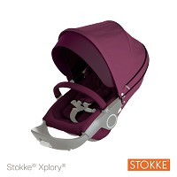 Stokke® Xplory® and Crusi Stroller Seat Textile Kit, Purple