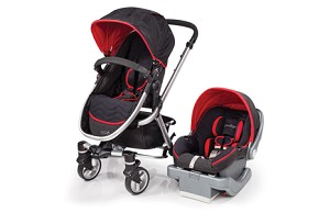 Summer Infant Fuze� Travel System with Prodigy� Infant Car Seat, Black & Red