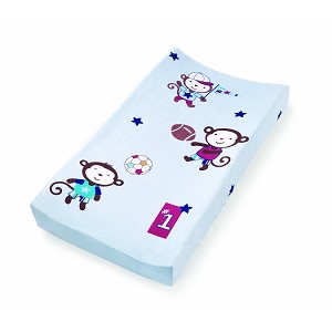 Summer Infant Plush Pals Changing Pad Cover Team Monkey