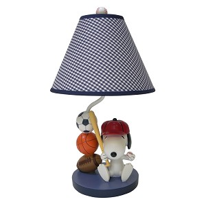 Lambs & Ivy Team Snoopy Lamp and Shade