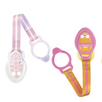 Tommee Tippee Closer to Nature® Purple/Orange Pacifier Holder 2pk BPA Free 0m+ Girl