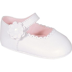 Baby Deer White Leather Infant Girl's Skimmer