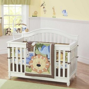 Triboro Jungle Buddies 4-Pieces Crib Set