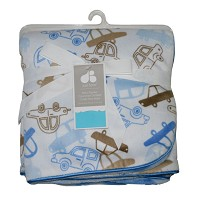 Just Born 2-ply Printed Valboa Blanket Blue Cars