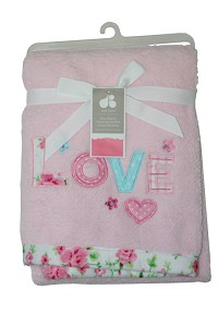 "Just Born ""Love"" Valboa Blanket"