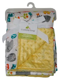 Cuddle Time Reversible Valboa Blanket Neutral Animal Print