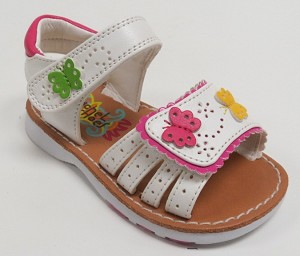 Rachel Shoes Carina Girls Sandal in White Multi