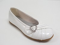 Rachel Gemma Shoe in White Patent