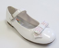 Rachel Haily Shoe in White Patent
