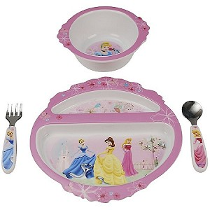 4PC Disney Princess Feeding Set