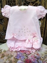 Will'beth Baby Diaper Set  with Booties Set Pink