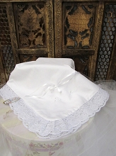 Will'beth White Lace Blanket