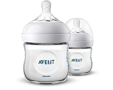 Avent Natural Baby Bottle, 9oz Slow Flow 1m+, 2 Pack