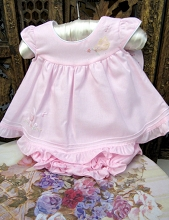 Will'beth Baby Dress Sweet Pink with Bloomer